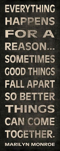 Marilyn Monroe Quotes Better Things Can Fall Together: Marilyn Monroe Quote Wall Decal Sometimes Things Fall