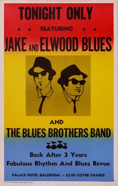 The Blues Brothers posters for sale online. Buy The Blues Brothers movie posters from Movie Poster Shop. We're your movie poster source for new releases and vintage movie posters. Cultura Nerd, Cultura Pop, Blues Brothers Movie, Blues Brothers Quotes, Rock And Roll, Concert Posters, Movie Posters, Band Posters, Rhythm And Blues