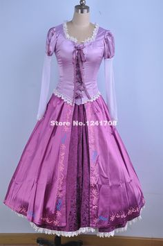 Brand New Adult Rapunzel Fancy Dress Anime Cosplay Costume Purple Princess Rapunzel Fancy Dress, Rapunzel Wedding Dress, Disney Princess Dresses, Princess Costumes, Disney Dresses, Tangled Rapunzel, Tangled Princess, Princess Fairytale, Anime Cosplay Costumes