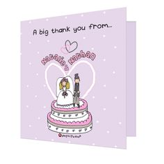 Personalised 'Bang on the Door' thank you cards
