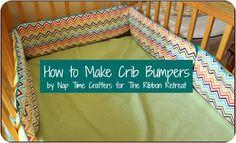 How to Make Crib Bumpers - {The Ribbon Retreat Blog}