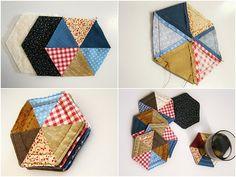 Pretty Patchwork Coasters.... a tutorial!