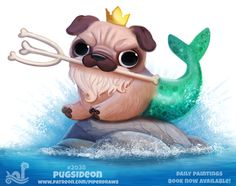 Daily Paint 2038# Pugsideon by Cryptid-Creations