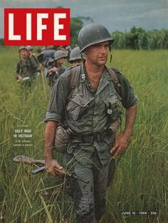 Larry Burrows. LIFE Cover: US Army Captain Robert Bacon leading a patrol during the early years of the Vietnam War (1964)