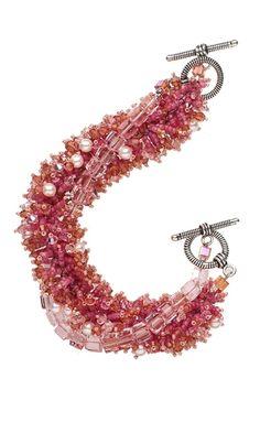 Multi-Strand Bracelet with Seed Beads and Swarovski Crystal Beads