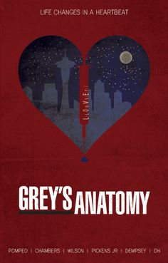 Grey's Anatomy (2005–) ~ Minimal TV Series Poster by Ryan Trapp #amusementphile