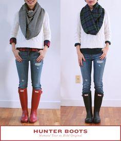 Hunter rain boots: Womens packable Tour for travel