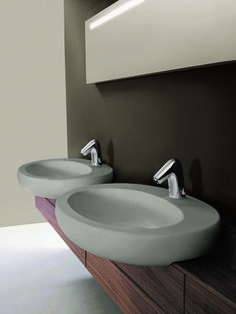 Il Bagno Alessi One semi-recessed #washbasin Designed by Stefano Giovannoni #hotel