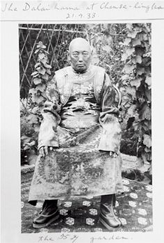 "Tibetan Buddhism  13th Dalai Lama near end of his life. Died in 1933 at the age of 58. Was called the Great 13th, one of the two Dalai Lamas referred to as ""The Great"". The other was thee Great 5th."