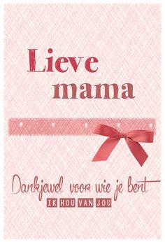 Moederdag 2014 - Lieve mama