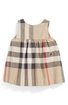 Uh, duh! Fox party toats needs Burberry!! #whydidntithinkofthat Burberry Sleeveless Check Dress (Baby Girls) available at #Nordstrom
