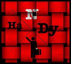 Nouveau design du logo The Handy Club. Symbols, Neon Signs, Letters, Club, Logo, Design, Art, Craft Art, Logos