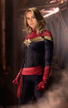 Brie Larson as Captain Marvel - Fan edit, no doubt. If they wind up making Captain Marvel like this, I suppose I wouldn't mind that. Ms Marvel, Marvel Dc Comics, Marvel Heroes, Marvel Avengers, Marvel Women, Gambit Marvel, Deadpool Wolverine, Xmen, Marvel Characters