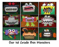 The students make these and then write their own go away green monster stories! NEXT YEAR!!