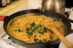 Coconut Curry Shrimp —