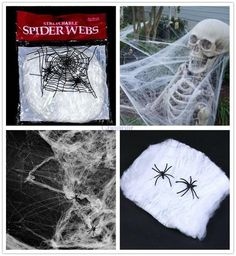 Get ready for the Fright Fest and dress up you front yard for the party! This creepy spider web will make everyone shiver at sight! Hurry up and get it while supplies last!Size: 90cmType: Event & Party Supplies