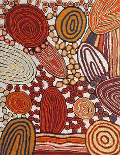 Australian Aboriginal Art - Katherine Marshall Nakamarra / Women's Ceremony