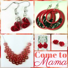 Mother's Day is in less than 2 weeks!  Get her something unique and pretty from Sweethearts and Crafts paper quilled jewelry.
