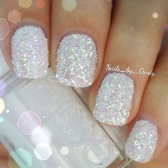 Idea...if you ever mess up your nail polish, dip your nails in glitter!