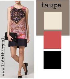 1000 images about modekleuren combineren on pinterest taupe type 4 and om - Kleur grijze taupe ...