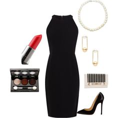 A simple, yet elegant fit featuring Karen Millen dresses, Christian Louboutin pumps and Giovane earrings. This combination is great for both young and middle aged women. Look out kids, looks like Mom's got a hot date.