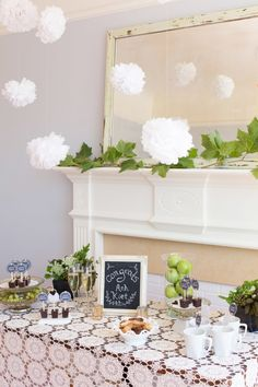 Wedding Decoration Ideas Using Paper Pom Poms - neat decoration that everyone would love  #wedding #ideas