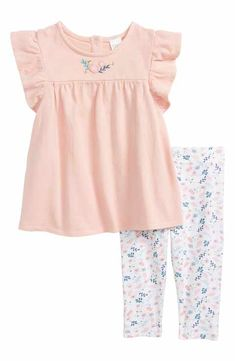 bb448604ea3 Nordstrom Baby Embroidered Tunic   Leggings Set (Baby Girls) Newborn Baby  Gifts