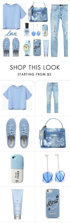 """♥"" by macopa ❤ liked on Polyvore featuring MANGO, AMIRI, Valentino, Drybar and Newgate"