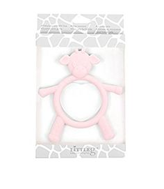 Little Giraffe G Baby Teething Toy, Pink