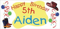 Western Birthday Party Banner personalized