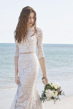 Wedding dress - Lace two pieces Wedding Dress
