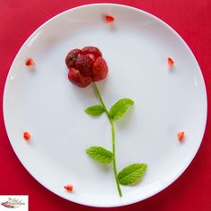 Creative party food Strawberry Rose