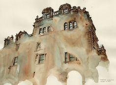美麗的水彩渲染 寫意建築印象派插畫 | ㄇㄞˋ點子靈感創意誌