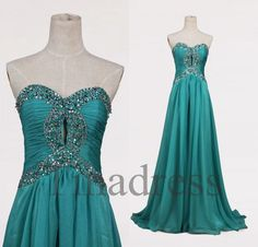 Hey, I found this really awesome Etsy listing at https://www.etsy.com/listing/174912546/custom-teal-beaded-long-prom-dresses