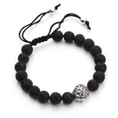 Charm Bracelets Kyszdl Fashion Hot Sell Lava Stone 8mm Ball Bracelet Men And Women Yoga Buddha Beads Hand Chain Bracelet Jewelry Wholesale Convenience Goods
