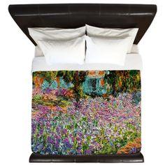 Irises In Monets Garden King Duvet on CafePress.com