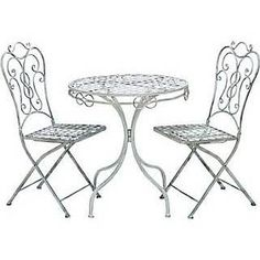 Woodland 68792 Patio Vintage Themed Outdoor Table and Chair Set