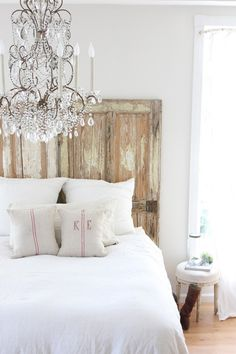 "Dreamy Whites: What a ""dreamy"" bedroom! @ DIY Home Design"