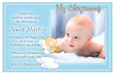 Baby Dedication Invite Template Luxury Free Christening Invitation Template for Baby Boy – Estemplate Baptism Invitation Wording, Baby Dedication Invitation, Christening Invitations Boy, Baby Boy Christening, Christening Card, Christening Decorations, Shower Invitation, Invitation Card Maker, Invitation Card Format