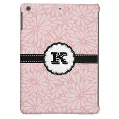 Pink Floral Abstract iPad air case
