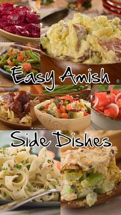 You'd be hard-pressed to find anyone who could make great side dish recipes like the Amish. We're taking a leaf out of the Amish recipe book with some of our favorite easy side dish recipes for any occasion! Best Amish Recipes, Side Dish Recipes, Great Recipes, Dinner Recipes, Favorite Recipes, Side Dishes Easy, Vegetable Side Dishes, Pennsylvania Dutch Recipes, Sauces