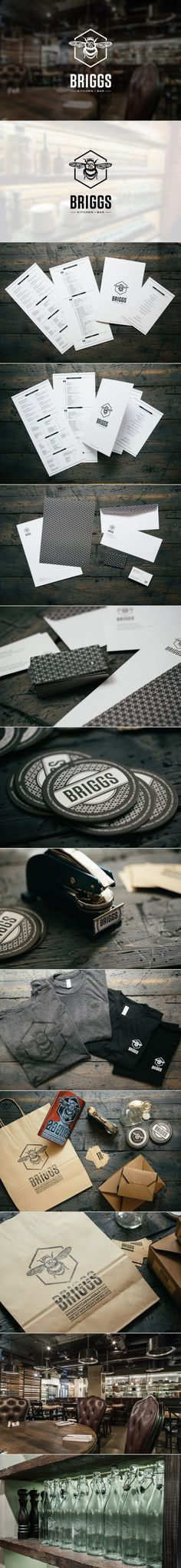 Briggs Kitchen + Bar Branding by Joey Camacho, via Behance