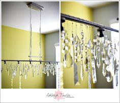 Gorgeous DIY Crystal Chandelier
