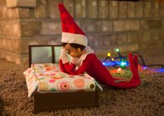 Elf on shelf saying his prayers before bedtime♥ LOVE this one...and Chloe has that exact bed with her dollhouse!