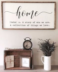 Farmhouse Inspired Home Quote Sign ad #sign #home #definition #quote #homedecor #farmhousestyle #fixerupper