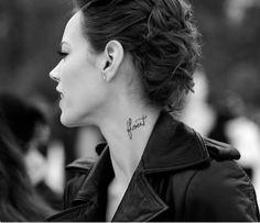 Freja Beha / Tattoo