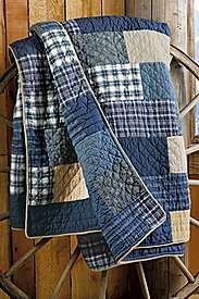 I absolutely LOVE this! Softly worn Denim and old flannel shirts. So homey!