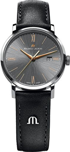 Maurice Lacroix EL1087-SS001-811 Stainless Steel and Calf-Leather Watch - for Men