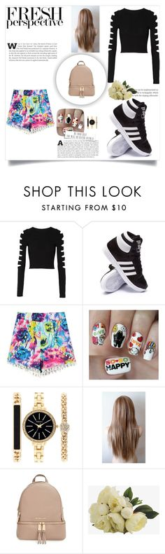 """#21"" by crazibunniz on Polyvore featuring Cushnie Et Ochs, adidas, Nail Pop, Style & Co. and MICHAEL Michael Kors"
