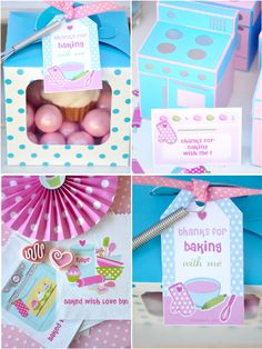 Cupcake baling birthday party ideas with DIY decorations, printables, food, games and favors!